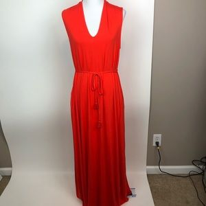 Matilda Jane Orange Rope Belt Maxi Dress